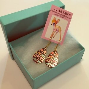 New Miami Lights lever back Gold Earrings New Tags